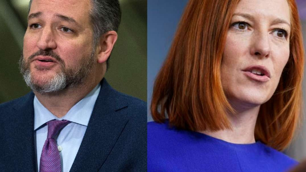 Maskless Psaki Can Sneeze Into Her Open Hand But Immunized Ted Cruz Can't Speak Without Mask