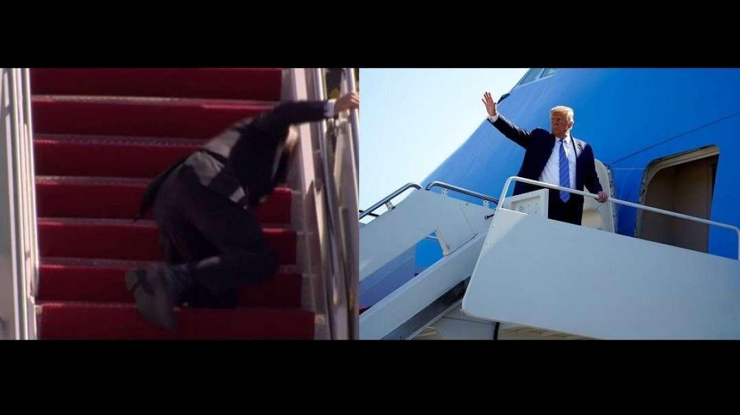 Trump Vs. Biden Stair Challenge, Media Bias Exposed Once Again
