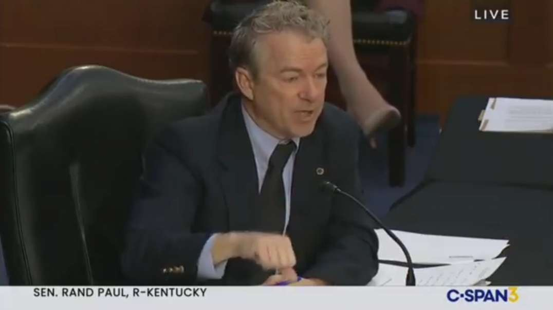 Sen. Rand Paul Tells Fauci Everything Americans Are Thinking On Wearing Masks After Being Vaccinated