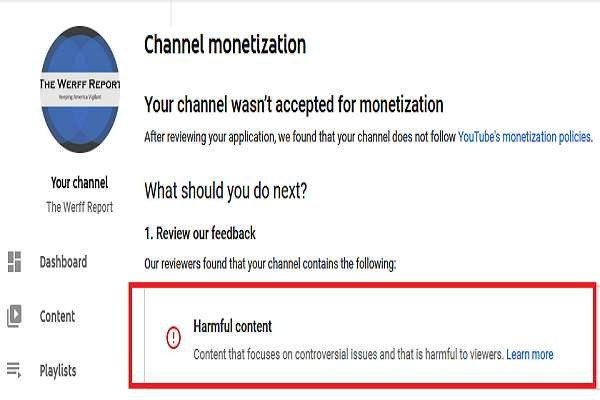 """Our channel is officially """"harmful"""" to viewers, according to YouTube! (This was applied for back in NOVEMBER by the way). This is why we had to go the subscription route and create.."""