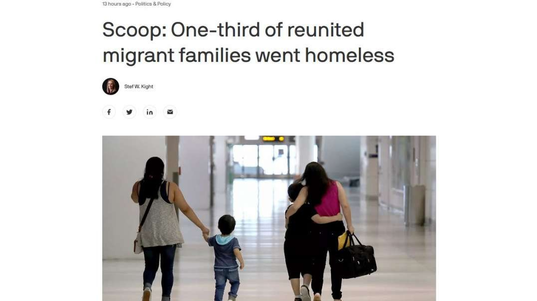 Axios Publishes Backwards Story Blaming Trump For Illegals Being Homeless, Making Biden The Hero