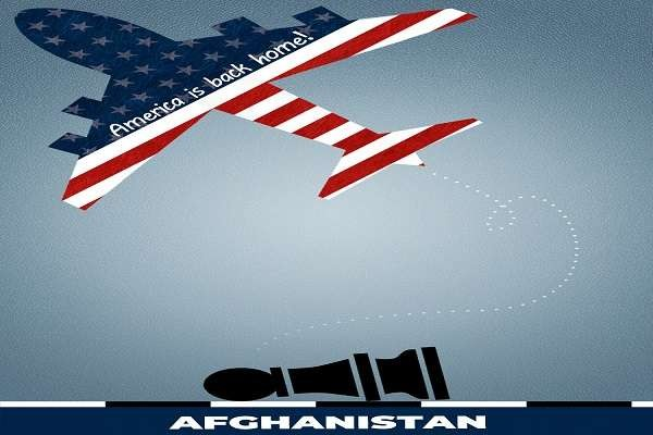 """China state-run media mocks U.S.-Afghanistan debacle with an image depicting Afghanistan as a fallen chess piece (as we told you yesterday) and an American plane with the words """"America.."""
