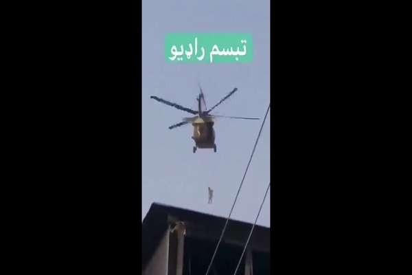 """The taliban is reportedly hanging who they call """"traitors"""" by the throat from American helicopters left behind in Kandahar. Pray for the world. And pray for an end to the corrupt r.."""