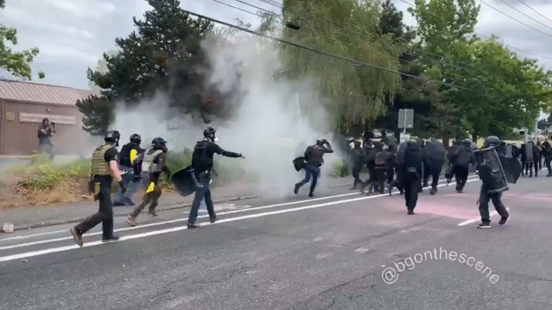 Antifa Runs Up On Proud Boys In Portland, But Quickly Regret It