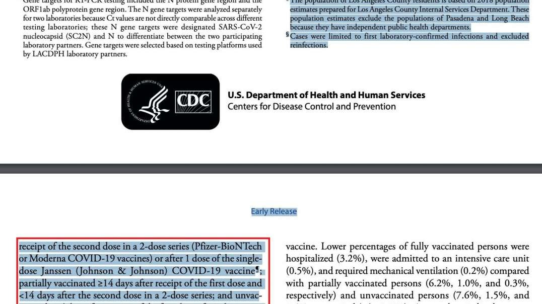 CDC Labeling Vaccinated Deaths As Unvaccinated In Clever Manipulation Of Data