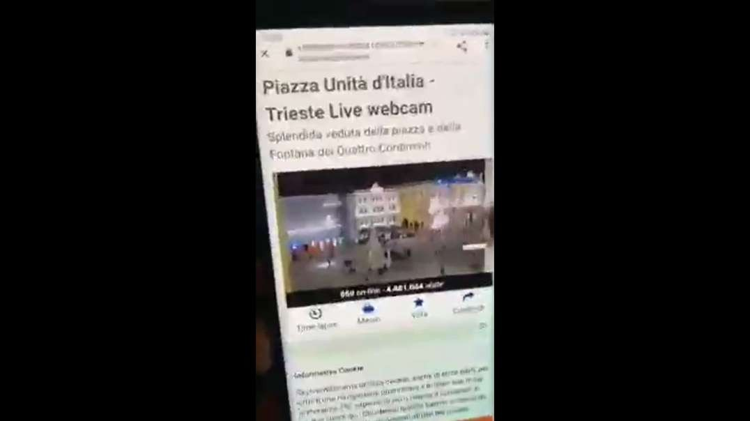 Italian Site Claiming To Show Public Square Live Exposed, Square Shown Empty During Massive Protests